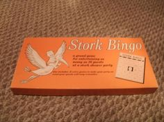 1970 Leister Company Vintage Stork Bingo game complete set for 16 #Leister