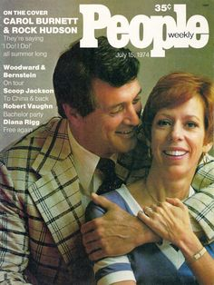 Rock Hudson and Carol Burnett on the cover of People magazine, July Rock and Carol appeared together in the musical I Do! at Kennedy Center that summer to record-breaking crowds. Old Magazines, Vintage Magazines, Robert Vaughn, Carol Burnett, Rock Hudson, Movie Magazine, People Magazine, Interesting Faces, Film Noir