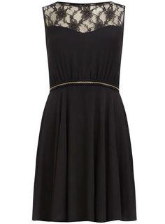 Black chain trim dress - Dresses  - Clothing
