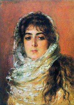 Konstantin Makovsky Portrait Of Artist's Wife 1887