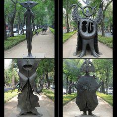 Leonora Carrington sculptures