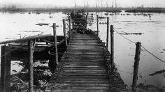 De IJzervlakte werd eind oktober 1914 onder water gezet om de opmars van het Duitse leger tegen te gaan.
