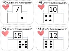 Addition & Subtraction Task Cards {Part Part Whole} Perfect for math stations, small groups, tutoring, or independent practice! $