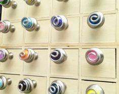 Boutons de coffret en verre coloré et tire/cuisine armoire boutons/meubles poignées/salle de bain armoire boutons/Bi-fold portes/Funktini boutons de verre