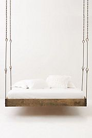 Barnwood Hanging Bed: For my next house, maybe outside in a covered backyard area ;)