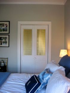 DIY metal inserts to replace shutters or glass or anything undesirable. Made with metal radiator sheets