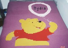 Cross Stitch Twin Pooh Blanket With Name (NYDIA) by me Marcelle Powell