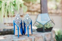 Glamorous blue weddi