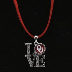 Oklahoma Sooners Women's Love Suede Necklace
