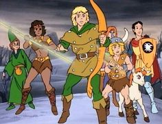 """Dungeons and Dragons cartoon focuses on a group of friends who are sucked into the """"Realm of Dungeons & Dragons"""" by taking a magical dark ride on an amusement park roller coaster."""
