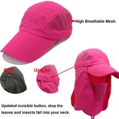 f75b0d1ac51d17 Amazon.com : UNIQME UPF 50+ Protection Hats, Quick-drying Fishing Cap