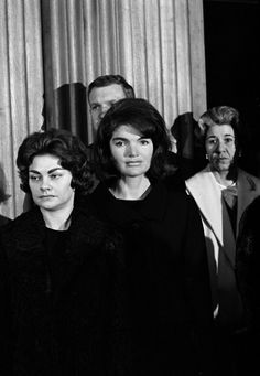 "gloriousjacqueline: "" Jacqueline Kennedy comes out of seclusion to attend a special ceremony citing her Secret Service man, Clint Hill, for his ""exceptional bravery"" in trying to protect President Kennedy and herself when the President was gun down..."
