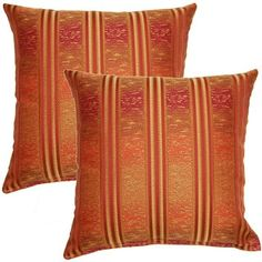 Randolph Red 17-inch Throw Pillow (Set of 2) | Overstock.com Shopping - The Best Deals on Throw Pillows