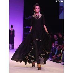 Black Butterfly Tail Cuit Kameez Designer Most Wonderful Tail Cut Kameez