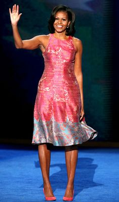 Michelle Obama wearing Tracy Reese.