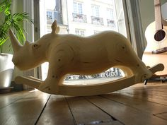 JOSE - The poplar rocking Rhinoceros sculpture artwork- (a true POP-ROCK piece in other words)