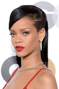The 12 Best Holiday Hair Looks - Parting Shots as seen on Rihanna