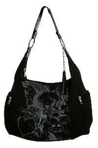❤ Black Skull purse