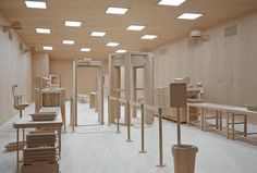 1 | An Airport Security Checkpoint Made Entirely Out Of Wood | Co.Design | business + design