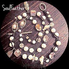 LuckyRaps(TM) SoulFeather triple wrap bracelet by SpaceHippyTM