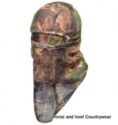 Jack Pyke Of England Lightweight Mesh Balaclava - English Oak Elasticated face surround balaclava with a face veil that can be worn up or down