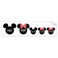 Family Car Stickers, Car Bumper Stickers, Disney Decals, Family Of 5, Disney Fun, Disney Magic, Mickey And Friends, Create Yourself, Disney Products
