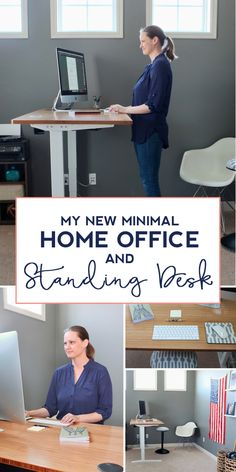 We found the most affordable motorized standing desk with the best design options. Check out our new home office featuring this modern bamboo standing desk.
