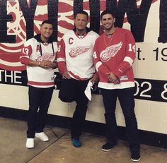 Detroit Tigers showing support for the Wings