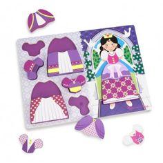 Melissa & Doug 19021 Princess Dress-up Chunky Puzzle: Melissa & Doug Princess Dress-Up Chunky Puzzle Princess Dress Up, Melissa & Doug, Different Dresses, Wooden Puzzles, Wood Toys, Fine Motor Skills, Kids Toys, Creative, Pattern
