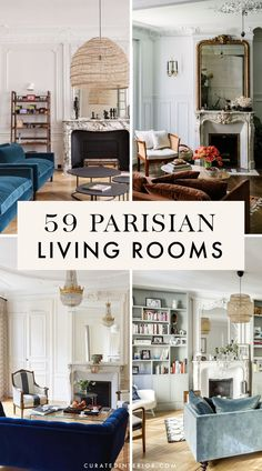 59 Parisian Living Rooms You Have to See! Get all your French decorating ideas from Curated Interior. We've got 59 of the most gorgeous Parisian apartments for you to see! These French living rooms are so elegant and chic. French Interior Design, Home Interior, Living Room Interior, French Interiors, Scandinavian Interior, Interior Ideas, Interior Styling, Paris Living Rooms, French Living Rooms