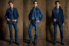 Denim On The SS15 Menswear Runway At Tom Ford