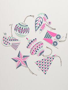 Tipografía Garland regalo etiqueta adornos Set #navideño #colgantes #decoraciones