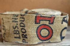 potato sack burlap ribbon by ShyMyrtle on Etsy