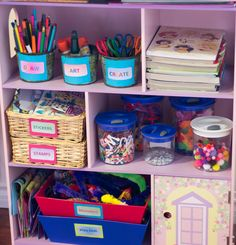 Make a Craft Centre for your Kids on a Budget    Kids Ideas and Organizing Tips at www.clutterbug.me