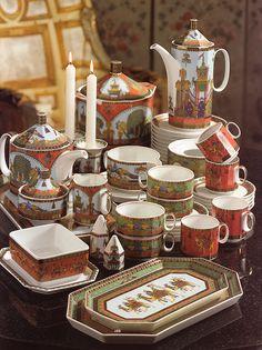 A Rosenthal Porcelain 'Le Voyage de Marco Polo' Part Dinner Service designed by Gianni Versace