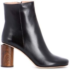 Acne Studios Allis Leather Ankle Boots (37,765 PHP) ❤ liked on Polyvore featuring shoes, boots, ankle booties, leather booties, black leather booties, black bootie boots, black booties and leather bootie