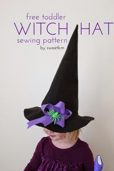 SweetKM: Free Toddler Witch Hat Sewing Pattern                              …