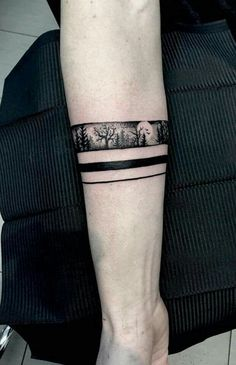 Ideas for landscape tattoo band Ankle Band Tattoo, Forearm Band Tattoos, Forarm Tattoos, Anklet Tattoos, Body Art Tattoos, Tattoo Arm, Band Tattoo Designs, Armband Tattoo Design, Tattoo Sleeve Designs