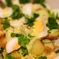 Peruvian potato salad 'a la huancaína'.   #CevciheKitchen