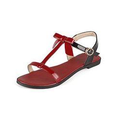 WeenFashion Women's Assorted Color Cow Leather No-Heel Op...…
