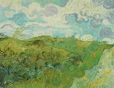 Vincent van Gogh: Green Wheat Fields. oil on canvas. Saint-Remy: May, 1890. Upperville, Va: Collection of Mr. and Mrs. Paul Mellon.