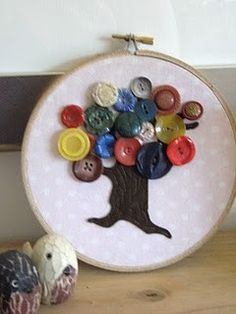 Button #hoop Button Tree