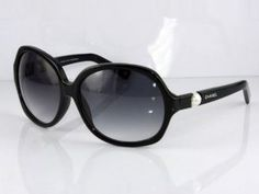 Chanel black Sunglasses with pearl embellishment
