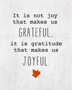 Joyfulness and Gratefulness go hand in hand