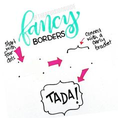 Some borders might look intimidating... but if you know how they're drawn, they're actually not that difficult at all! .