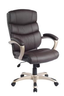 luxurious faux-leather modern chair