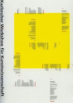 Annette Kröger Announcement poster for an HfG event, 1996 Graphic Design/HfG Karlsruhe