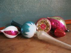 Antique/Mercury Christmas Ornaments & Tree Topper - OLD