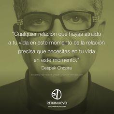 Las relaciones que atraes a tu vida (Deepak Chopra) http://reikinuevo.com/relaciones-atraes-tu-vida-deepak-chopra/