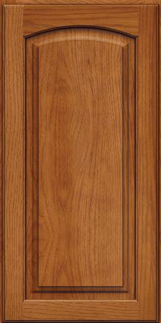 Arch Raised Panel - Arch Praline W/ Onyx Glaze - KraftMaid Bathroom Cabinetry, Kitchen Cabinets, Wooden Main Door Design, Wooden Front Doors, Raised Panel, Kitchen Cabinet Design, Cabinet Doors, Glaze, Solid Wood